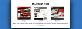 Design ideas for the new EKL site