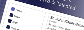 St John Fisher's G & T site goes live